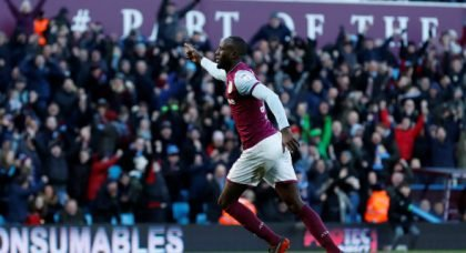 Villa fans pile into Adomah for display