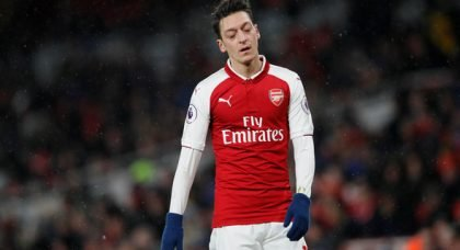 Some Arsenal fans tear Ozil to shreds at HT v Palace