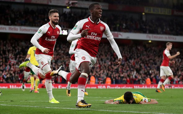 Image for Arsenal: Chris Wheatley claims Eddie Nketiah will leave for free having rejected Crystal Palace