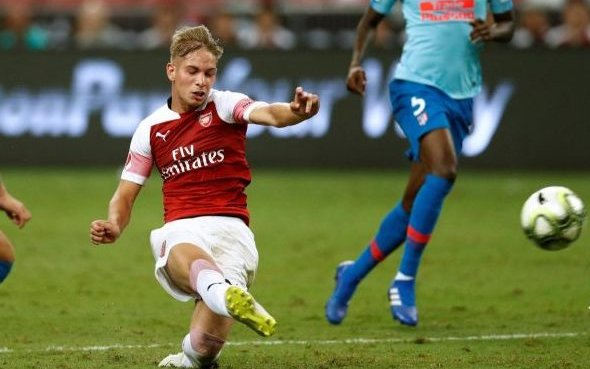 Image for Arsenal: James McNicholas claims Emile Smith Rowe will move wide to accommodate Martin Odegaard