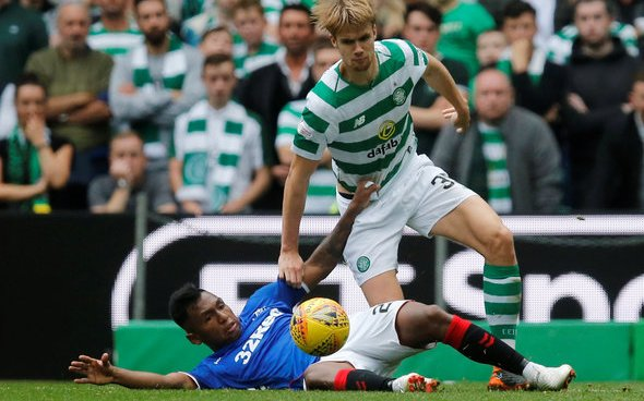 Image for Celtic: Fans react in anger after critical Kristoffer Ajer quotes