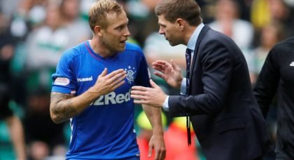 Clark raves about Ibrox ace Arfield after Rangers win v Celtic