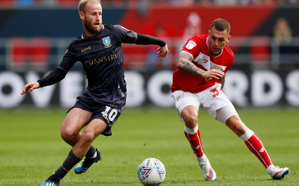 Image for Exclusive: Crossley labels Sheffield Wednesday's Barry Bannan as best in League One