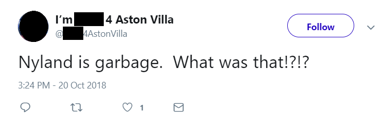 'Garbage', 'Sell him in Jan', 'Awful' – Some Aston Villa fans slam one player in win v Swansea