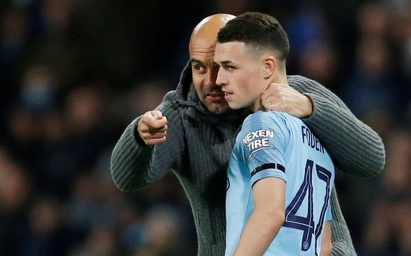 Image for Manchester City: Phil Foden set to start Burnley fixture