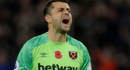 West Ham fans clearly think Fabianski is their player of the season