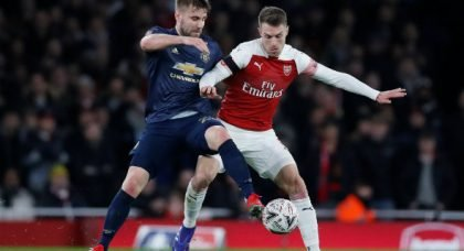 Arsenal fans rave about Ramsey v United