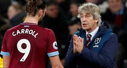 West Ham will not trigger current contract option on Carroll