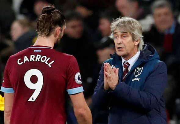 Many West Ham fans laud Andy Carroll after club's post
