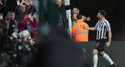 Newcastle fans over the moon with Schar display v Burnley