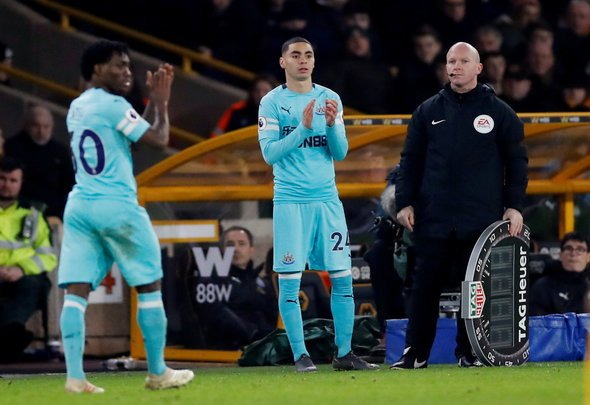 Newcastle fans react to Almiron debut v Wolves