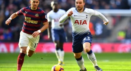 Manchester United ready mega-deal to take Eriksen from Tottenham