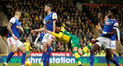 Vrancic noticeably limped off for Norwich against Ipswich