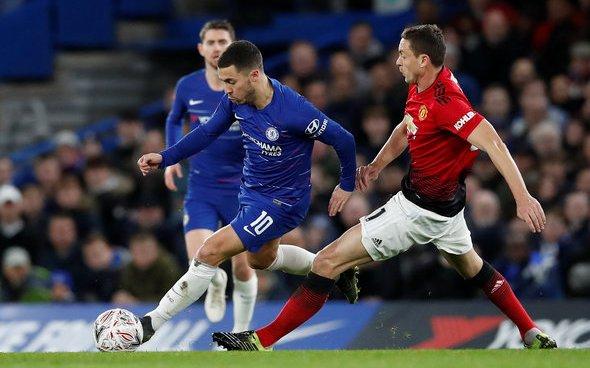 Image for Chelsea fans rave over Hazard at HT v Manchester United