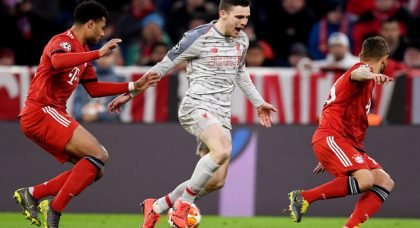 Liverpool fans rage over Robertson in Bayern clash