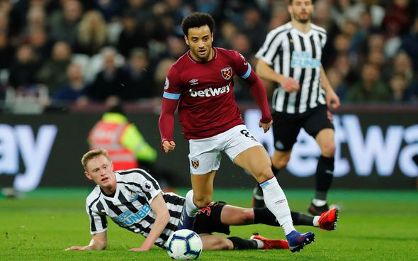 Image for West Ham United: ExWHUemployee claims Felipe Anderson is set to depart in the summer