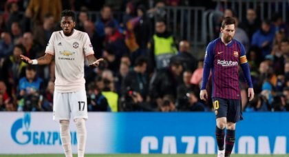 Man United fans rave about Fred for display v Barca