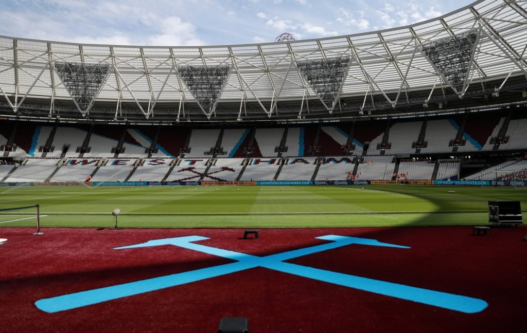 General view inside the London Stadium ahead of West Ham v Norwich City