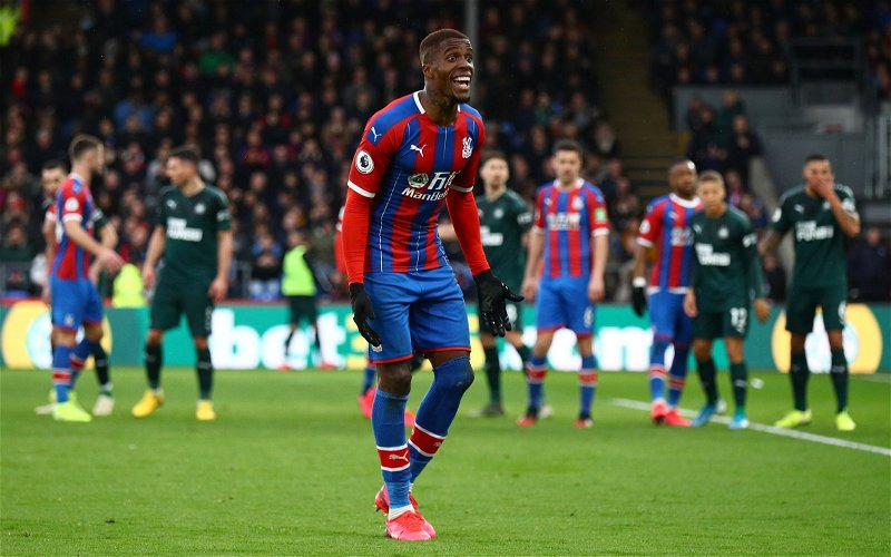 Image for Crystal Palace: Cook delivers update on Zaha's future