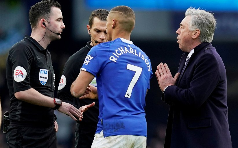 Image for Everton: Fans fume following the FA's relayed statement on Carlo Ancelotti