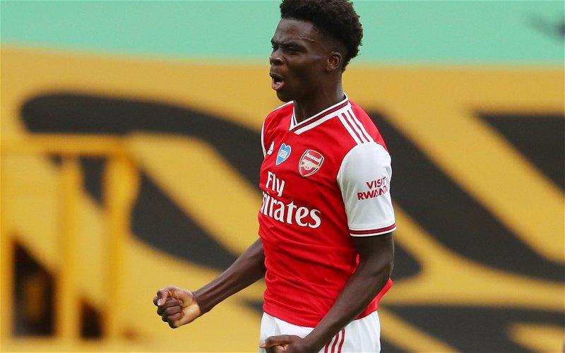 Image for Arsenal: Charles Watts says goalscoring is 'next step' in Bukayo Saka development