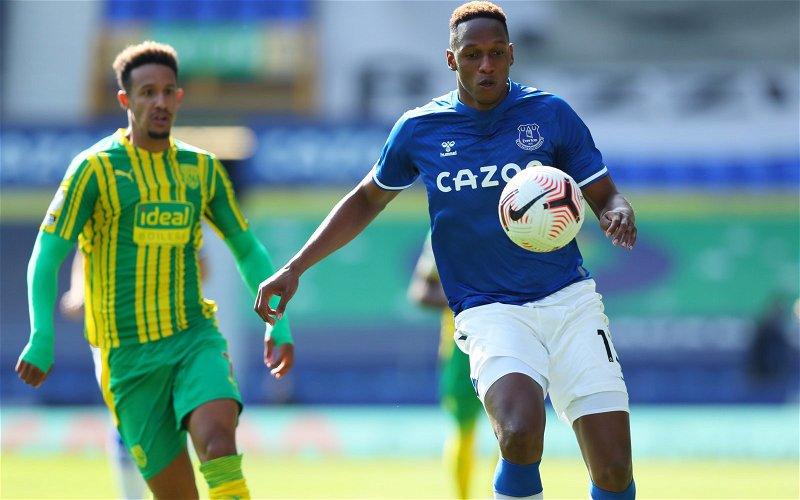 Image for Everton: Prentice hails Yerry Mina's recent form