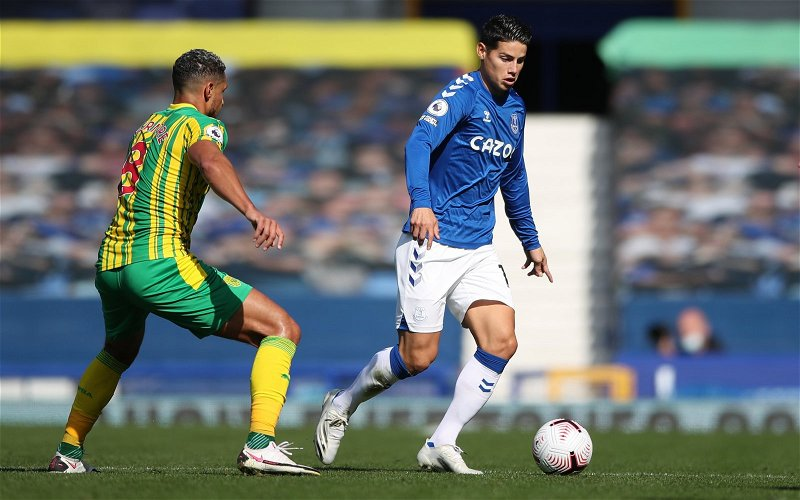 Image for Everton: Greg O'Keeffe issues update on James Rodriguez's future at Goodison Park