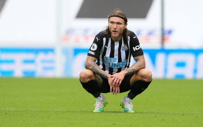 Newcastle United: Fans rage at Jeff Hendrick vs Arsenal ...