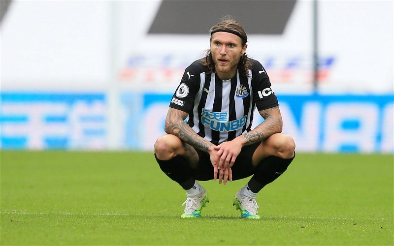 Image for Newcastle United: A lot of fans fume over Lee Ryder's verdict of Jeff Hendrick