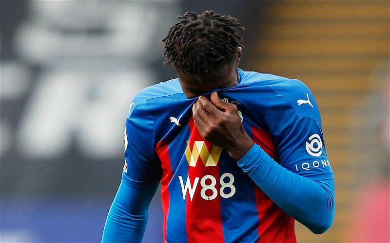 Image for Crystal Palace: Pundit discusses Zaha injury concern