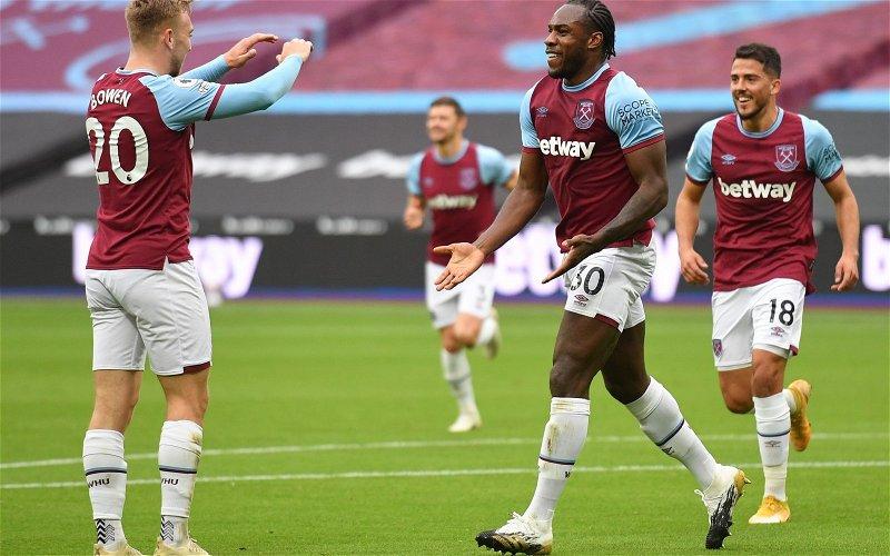 Image for West Ham United: Presenter drops claim on Michail Antonio
