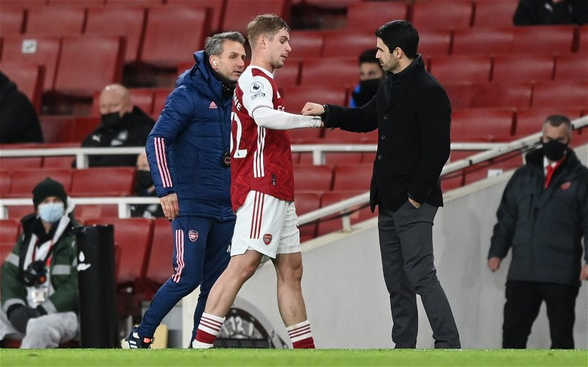 Image for Arsenal: Darren Gough calls Emile Smith Rowe 'a baller' after north London Derby