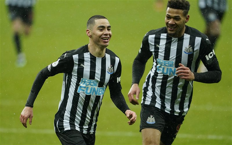 Image for Exclusive: Steve Howey believes Newcastle may sell Miguel Almiron to boost transfer kitty