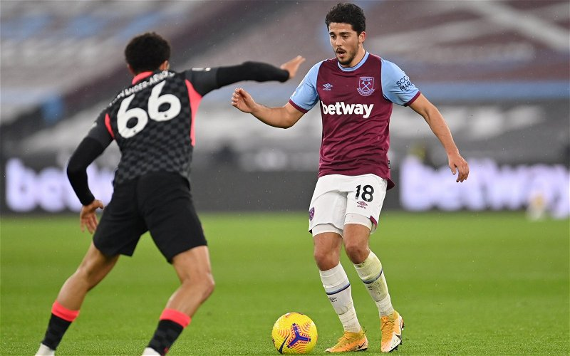 Image for West Ham United: Journalist praises Pablo Fornals