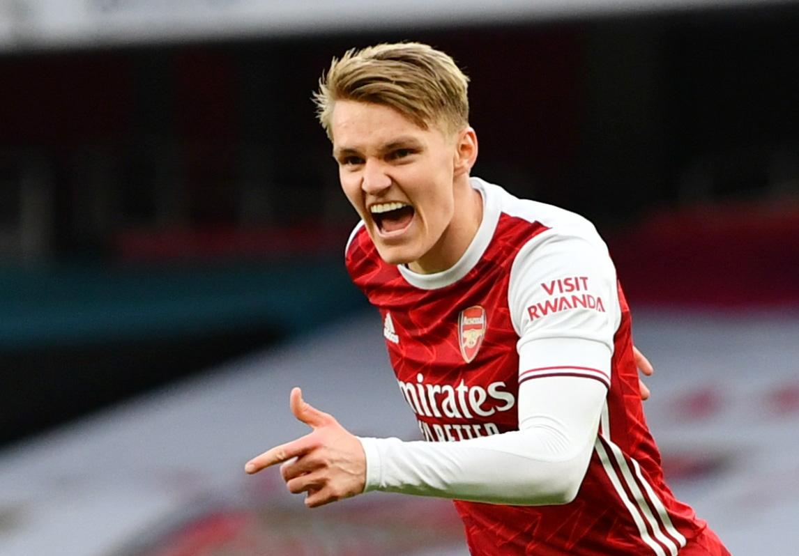 Image for Arsenal: Alan Smith raves over Martin Odegaard