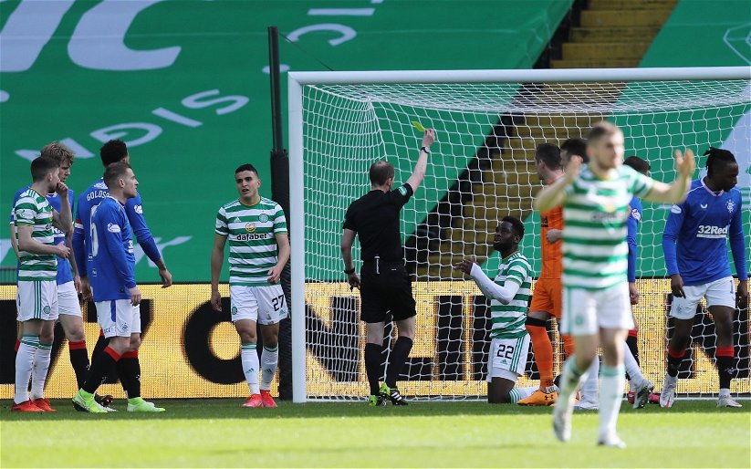 Image for Celtic: Mark Halsey discusses Odsonne Edouard yellow card during Old Firm clash