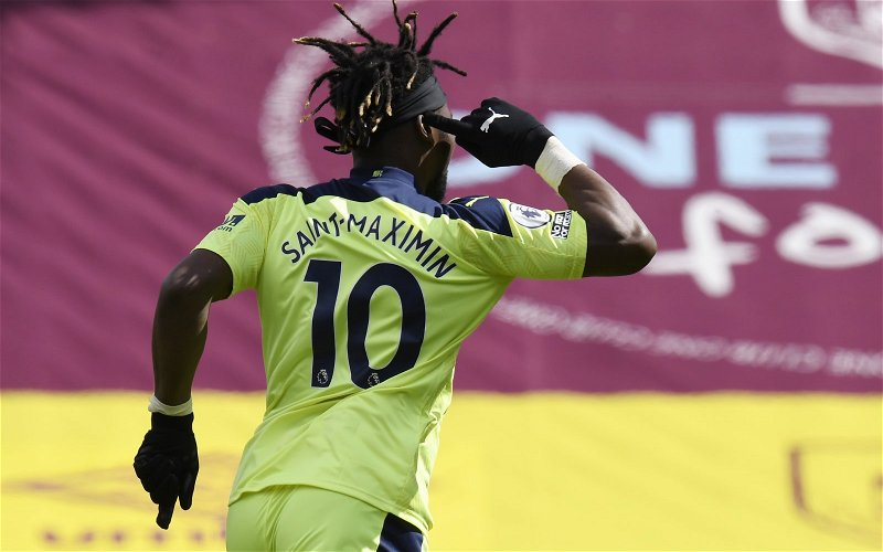 Image for Newcastle United: Many fans buzz as Saint-Maximin nominated for award