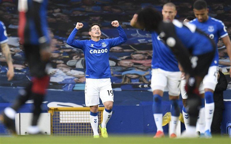 Image for Everton: Journalist praises James Rodriguez's impact at Goodison Park