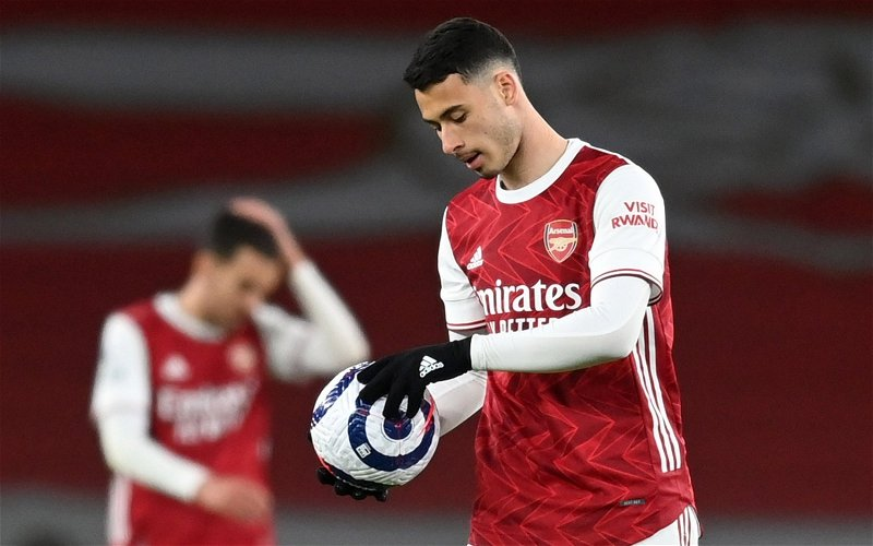 Image for Arsenal: Jermaine Jenas raves over Gabriel Martinelli's latest display