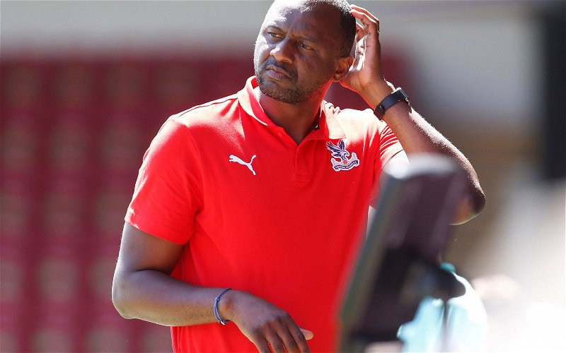 Image for Rosser confident Palace will be fine under Vieira